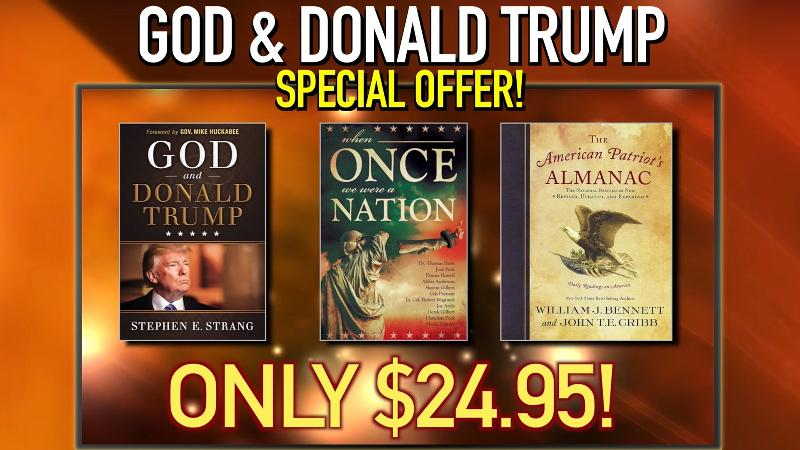 "NEW FREE OFFER!! RECEIVE 2 FREE BOOKS WITH THE HARDBACK""GOD & DONALD TRUMP"""