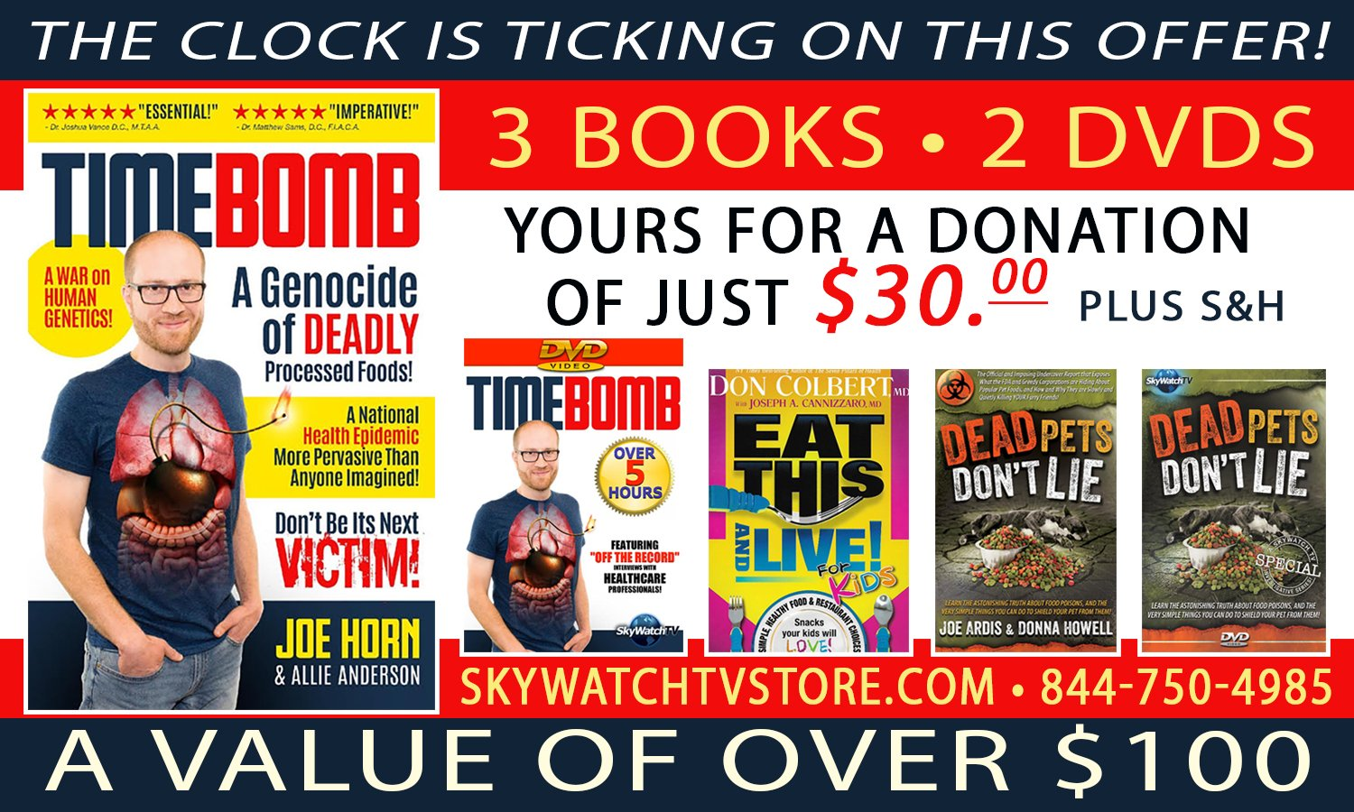 FREE BOOKS & DVDS WITH TIMEBOMB SPECIAL OFFER AVAILABLE FOR A VERY LIMITED TIME ONLY!!
