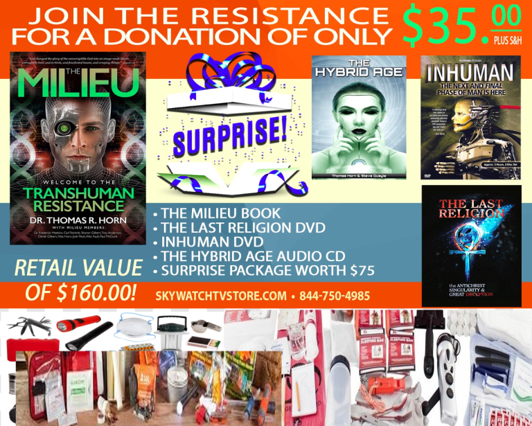 """IT'S THE BIGGEST GIVEAWAY OF SUMMER! FREE EMERGENCY SUPPLIES, DVDS, MOVIES, BOOKS, AUDIO SETS & MORE IN CELEBRATION OF THE GROUNDBREAKING NEW WORK """"THE MILIEU""""!"""