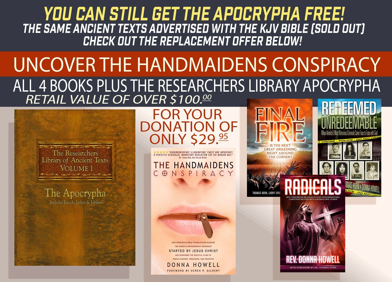 YOU CAN STILL GET THE APOCRYPHA FREE–THE SAME ANCIENT BOOKS DISCUSSED BY DR. THOMAS HORN, STEVE QUAYLE & DEREK GILBERT ON TV!