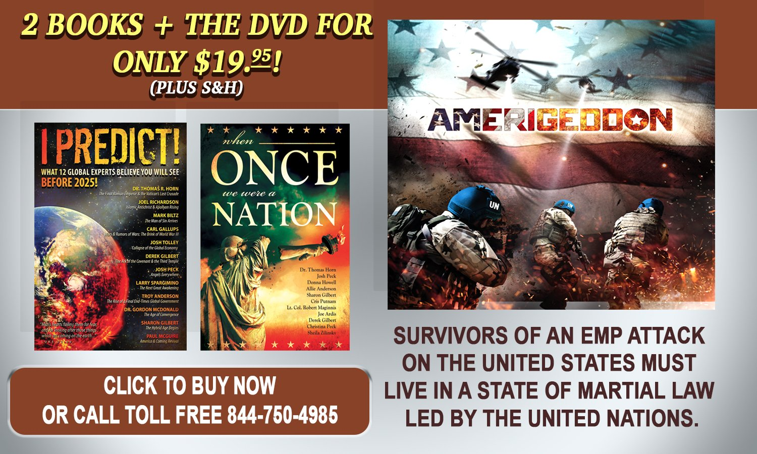 FREE BOOKS WITH AMERIGEDDON!
