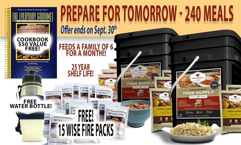 SEPTEMBER IS NATIONAL PREPAREDNESS MONTH AND SKYWATCH HAS VALUABLE LIMITED TIME SALES ON FOOD SUPPLIES, WATER PURIFICATION, POTASSIUM IODIDE, MILITARY GRADE GAS MASKS & MORE!