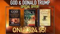 "2 FREE BOOKS WITH HARDBACK ""GOD & DONALD TRUMP"""