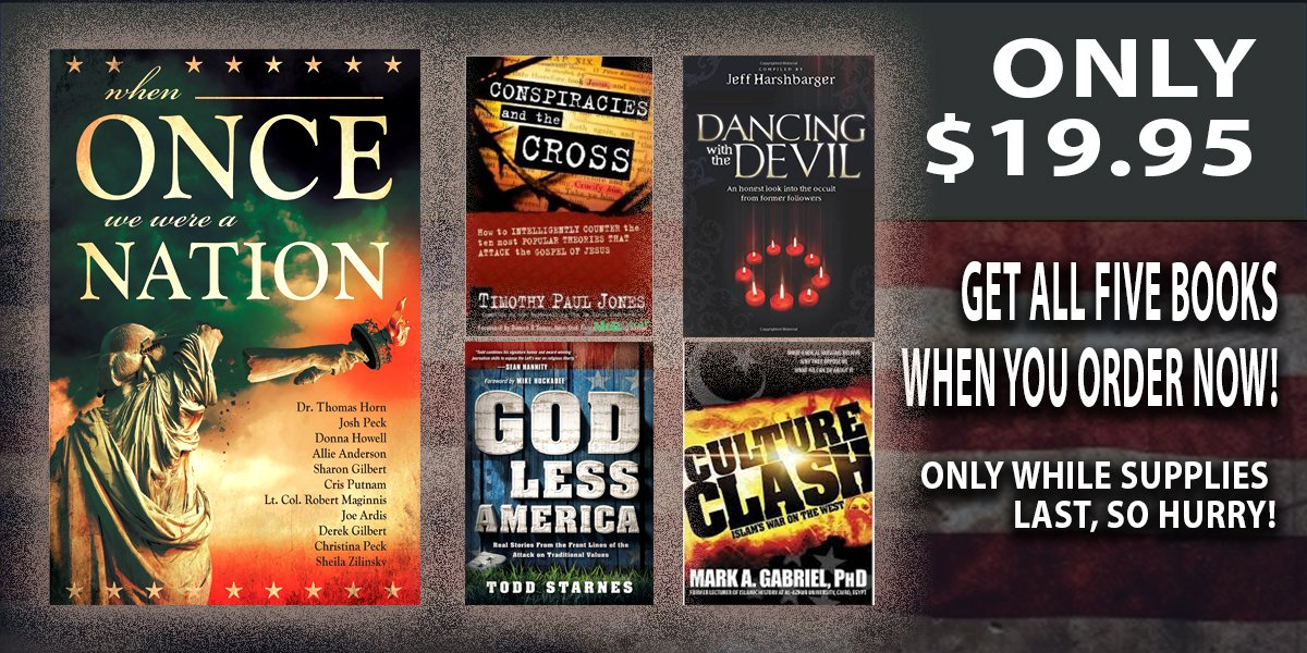 In celebration of the release of WHEN ONCE WE WERE A NATION, Sky Watch TV is giving away 4 FREE BOOKS for a limited time ($100.00 VALUE FOR ONLY $19.95!)
