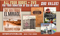 YOURS FOR ANY DONATION OF $20.00 OR MORE — LEARN THE SECRET TRUE STORY BEHIND DR. THOMAS HORN'S LIFE PLUS RECEIVE A DVD MOVIE AND 3 OTHER NEW BOOKS!