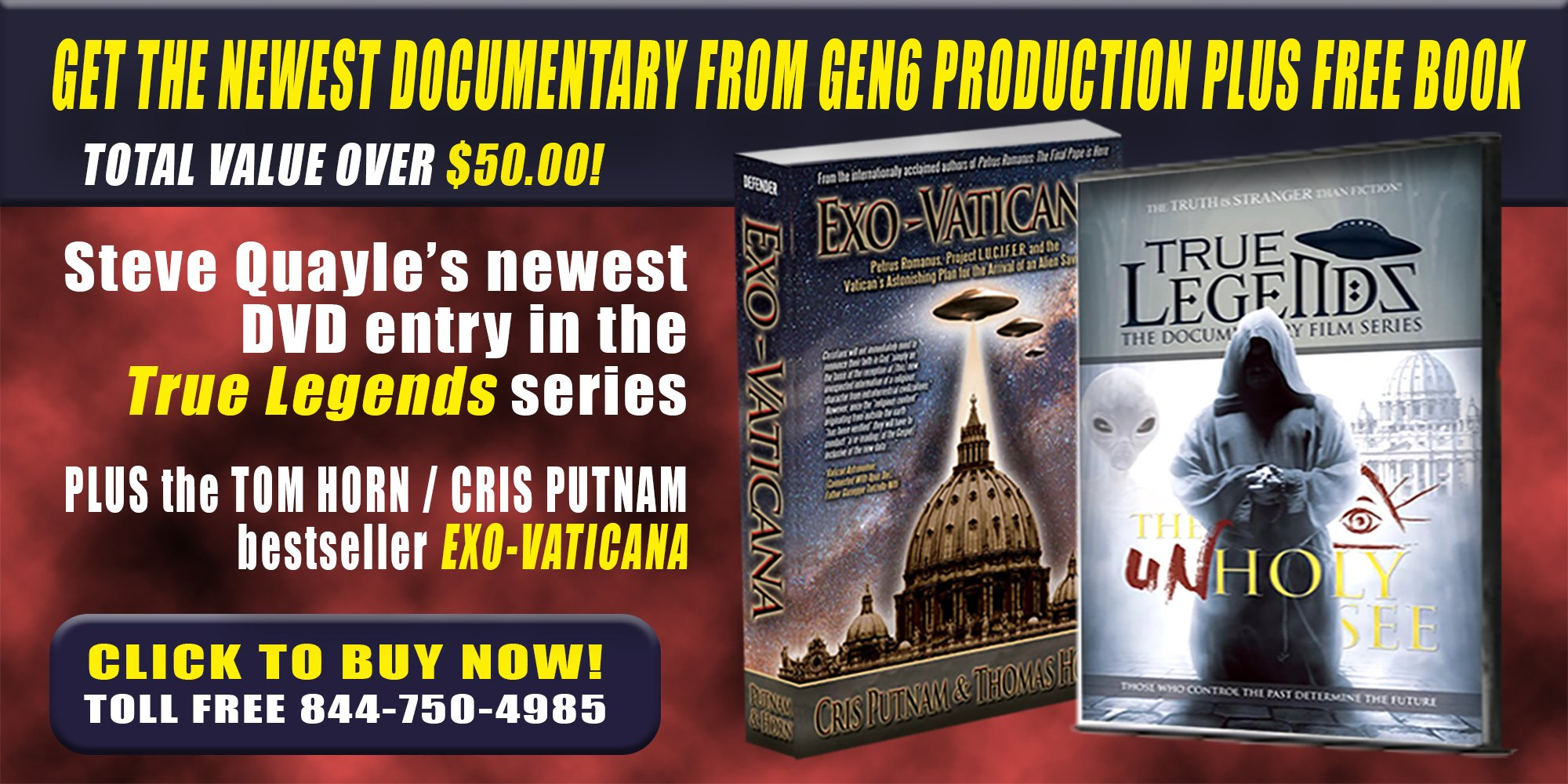 FREE BOOK WITH THE NEW DOCUMENTARY FROM STEVE QUAYLE AND GEN6 PRODUCTIONS!