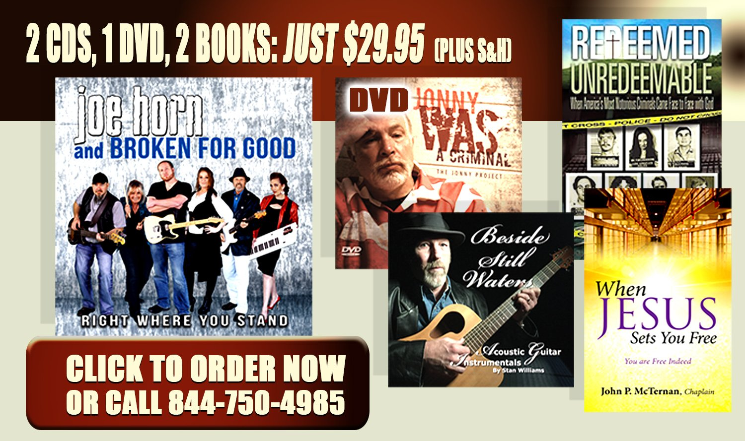 "EXCLUSIVE PROGRAM OFFER! GET THE NEW MUSIC CDS & BOOKS ""THE JONNY PROJECT""!!"