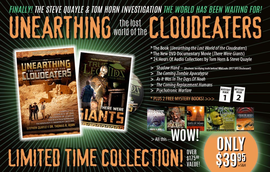 "CONTINUING THIS WEEK SKYWATCH INVESTIGATION UNEARTHS THE LOST WORLD OF THE CLOUDEATERS! PREORDER TO RECEIVE $175.00 IN FREE BOOKS PLUS THE ALL-NEW ""SHADOW HAND"" COLLECTION!"