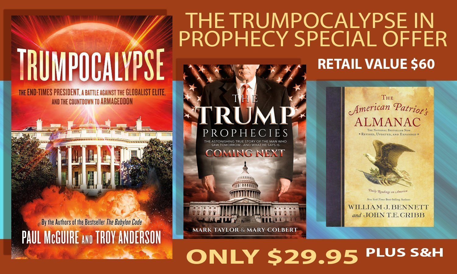 "FREE BOOKS FOR A LIMITED TIME WITH THE PROPHECY BLAZING NEW BEST-SELLER ""TRUMPOCALYPSE""!"""