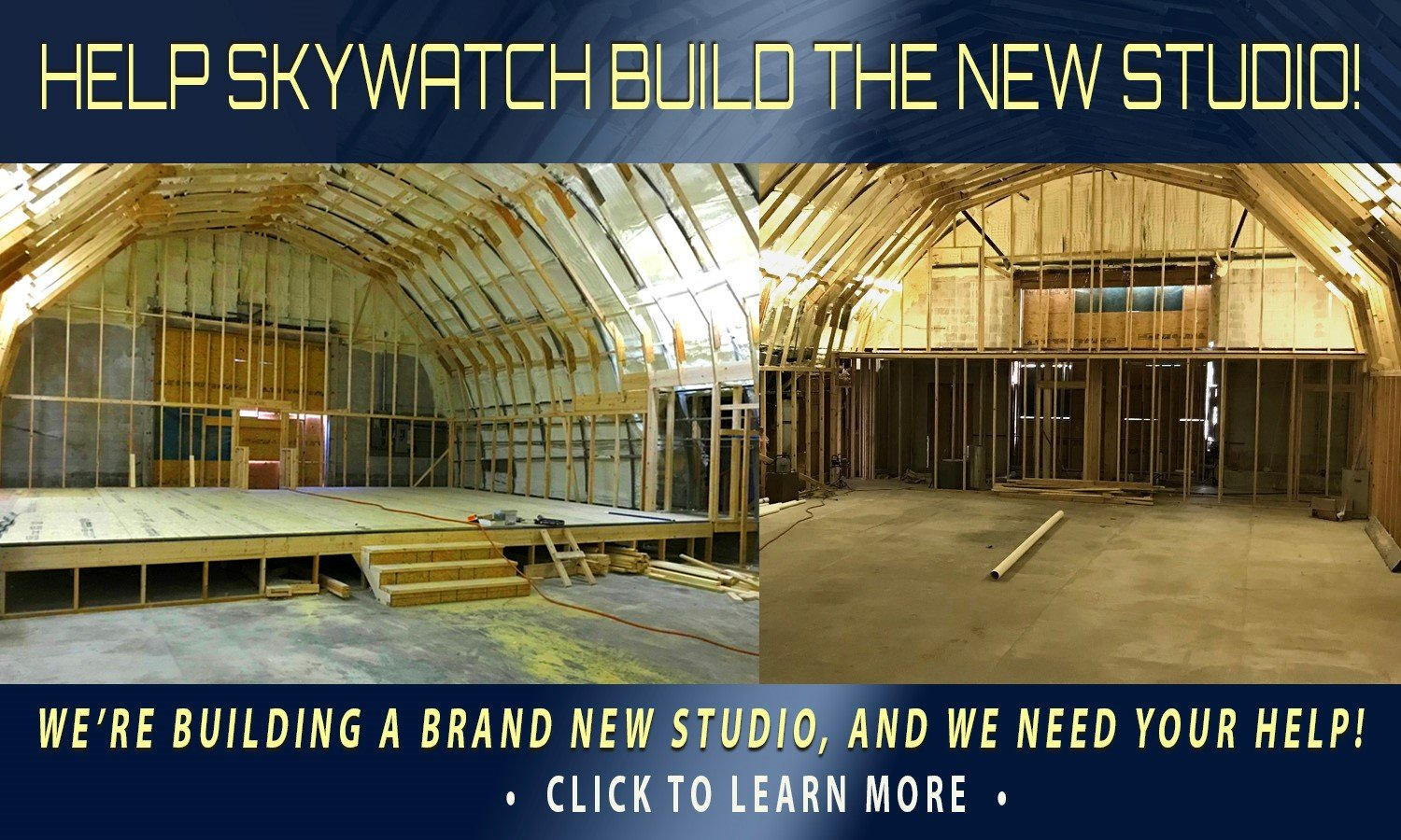 HELP SKYWATCH TV FINISH THE NEW STUDIO AND TAKE THE GOSPEL TRUTH AROUND THE WORLD!