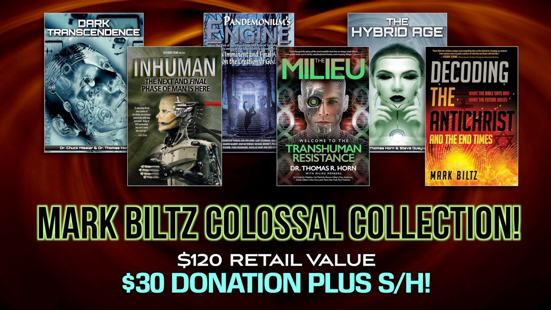 WOW! IT'S THE BEST DEAL ANYWHERE ON MARK BILTZ NEW BOOK! COMES WITH FREE BOOKS, AWARD-WINNING MOVIE, AUDIO SETS FOR A LIMITED TIME!