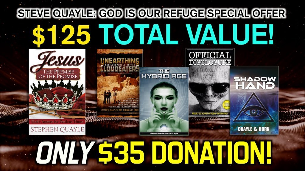 HURRY! BE PART OF HISTORY! GET STEVE QUAYLE'S LAST BOOK (LIMITED EDITION) WHILE SUPPLIES LAST!