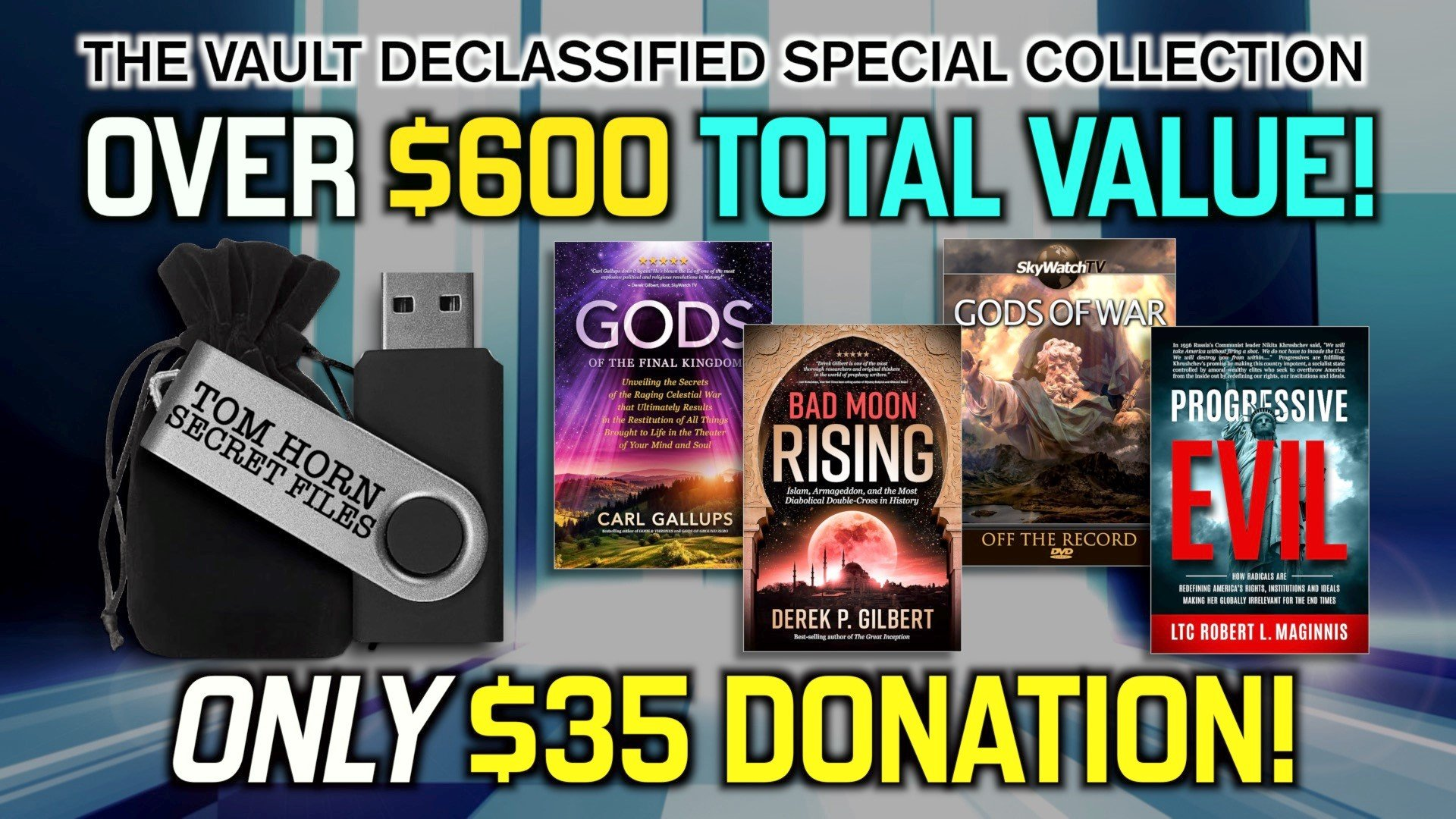 "FREE! RECEIVE TOM HORN'S ""TOP-SECRET FILES"" & OTHER GIFTS WITH NEW BLOCKBUSTER RELEASES!"