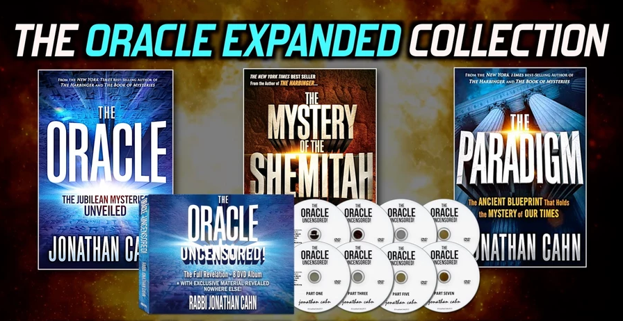 "FREE PRODUCTS WITH JONATHAN CAHN'S NEW ""THE ORACLE: THE JUBILEAN MYSTERIES UNVEILED!"""