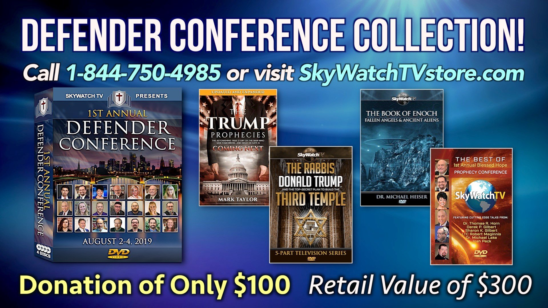 FREE BOOKS & DVDS ($200.00 VALUE) WITH THE NEW 21-HOUR DEFENDER CONFERENCE COLLECTION!
