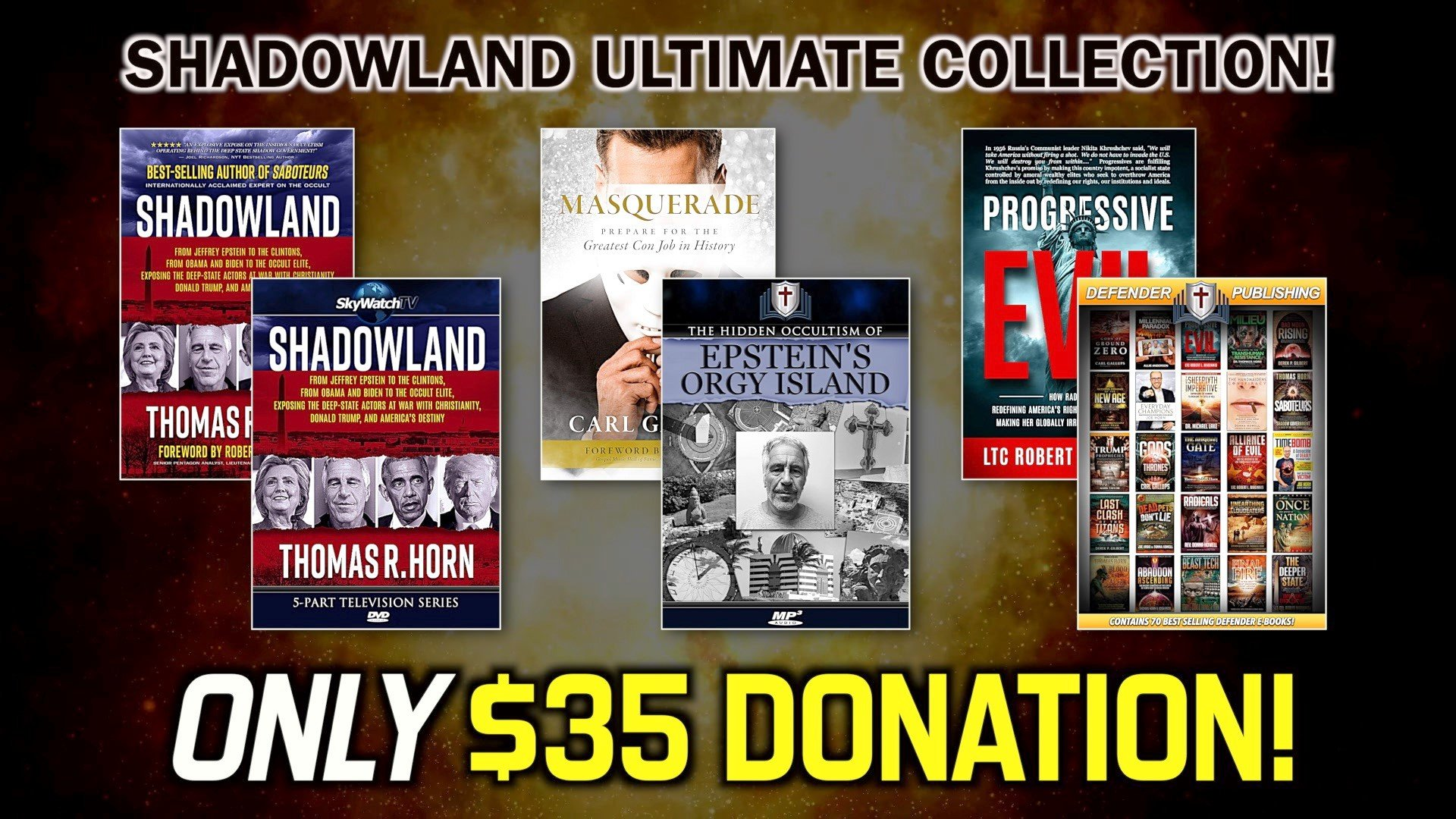 "OVER $700.00 FREE!?  GET OVER $700.00 IN FREE MERCHANDISE WITH THE ""SHADOWLAND ULTIMATE COLLECTION"""