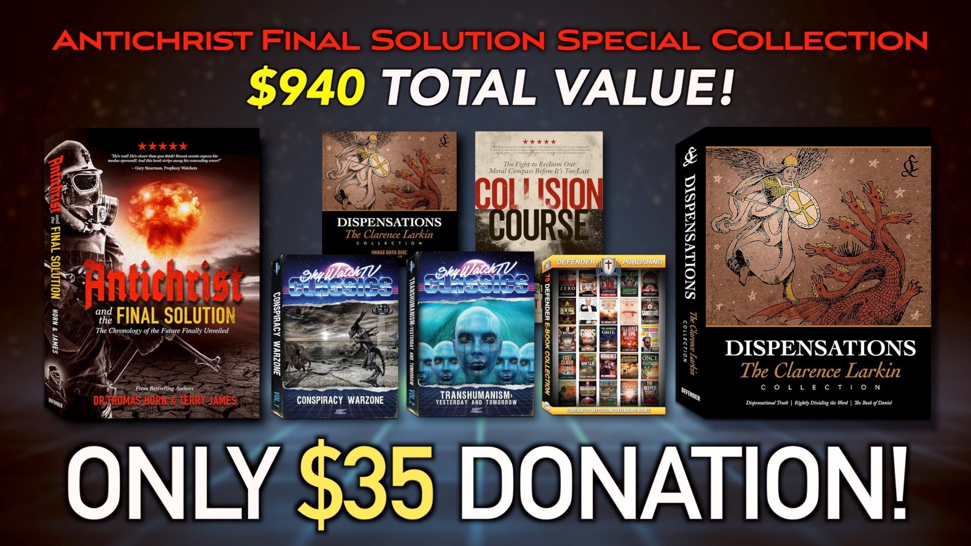 OVER $900.00 IN FREE MERCHANDISE WITH THE #1 BOOK OF THE YEAR! LIMITED TIME SUPER GIVEAWAY!