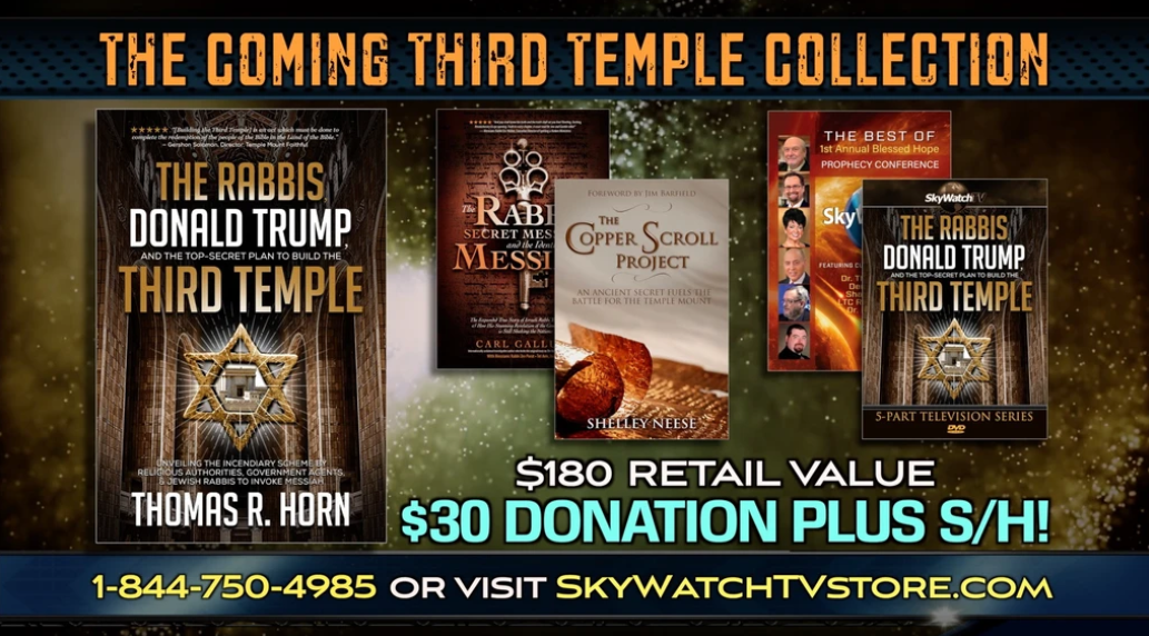 FREE DVDS & BOOKS WITH DR. THOMAS HORN'S EXTRAORDINARY BOOK ON COMING THIRD TEMPLE!