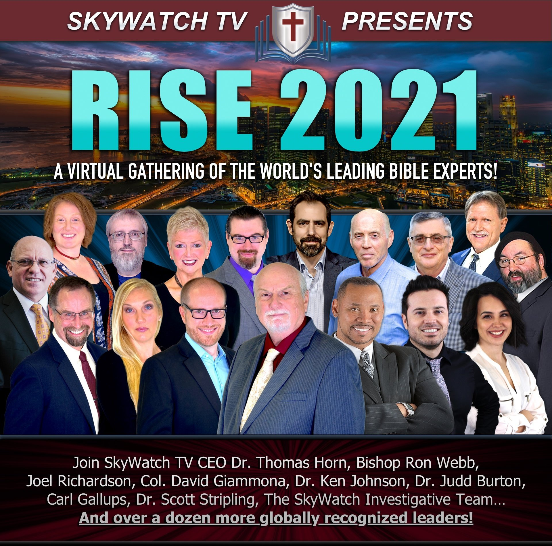 50 HOURS OF PRESENTATIONS FROM WORLD-RENOWN THEOLOGIANS, PROPHECY EXPERTS, ARCHAEOLOGISTS & MORE!